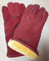 "Gloves cow split leather gloves,14"" (LC2013A-W) / Перчатки краги утепленные 14"" (LC2013A-W)"