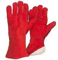 "Gloves cow split, leather gloves welding 14"" (LC2015A-BOA) / Перчатки cварочные перчатки зимние, краги"