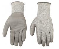 "Gloves, hppe fibre kniteed with pu coat,10"", cut level-5, ce en 388 / Перчатки рабочие 45041"