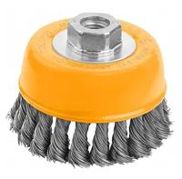 Cup twist wire brush with nut 125mm, 77510 / Щетка чашечная проволочная 125мм, 77510