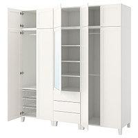 Гардероб ОПХУС белый 220x57x231 см ИКЕА, IKEA