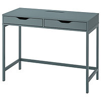Стол писменный АЛЕКС серо-бирюзовый 100x48 см ИКЕА, IKEA