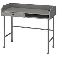 Стол писменный ХАУГА серый 100x45 см ИКЕА, IKEA