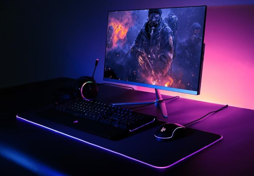 Игровые коврики с RGB подсветкой 80х30 / 9 режимов подсветки игровой Алматы для ПК клавиатура и мышь