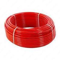 Труба 16x2.0 мм для теплого пола Fusitek PE-RT II однойслойная, цвет красный