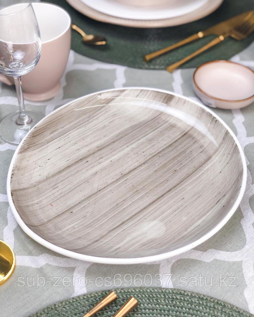Тарелка закусочная микротрещины бордо