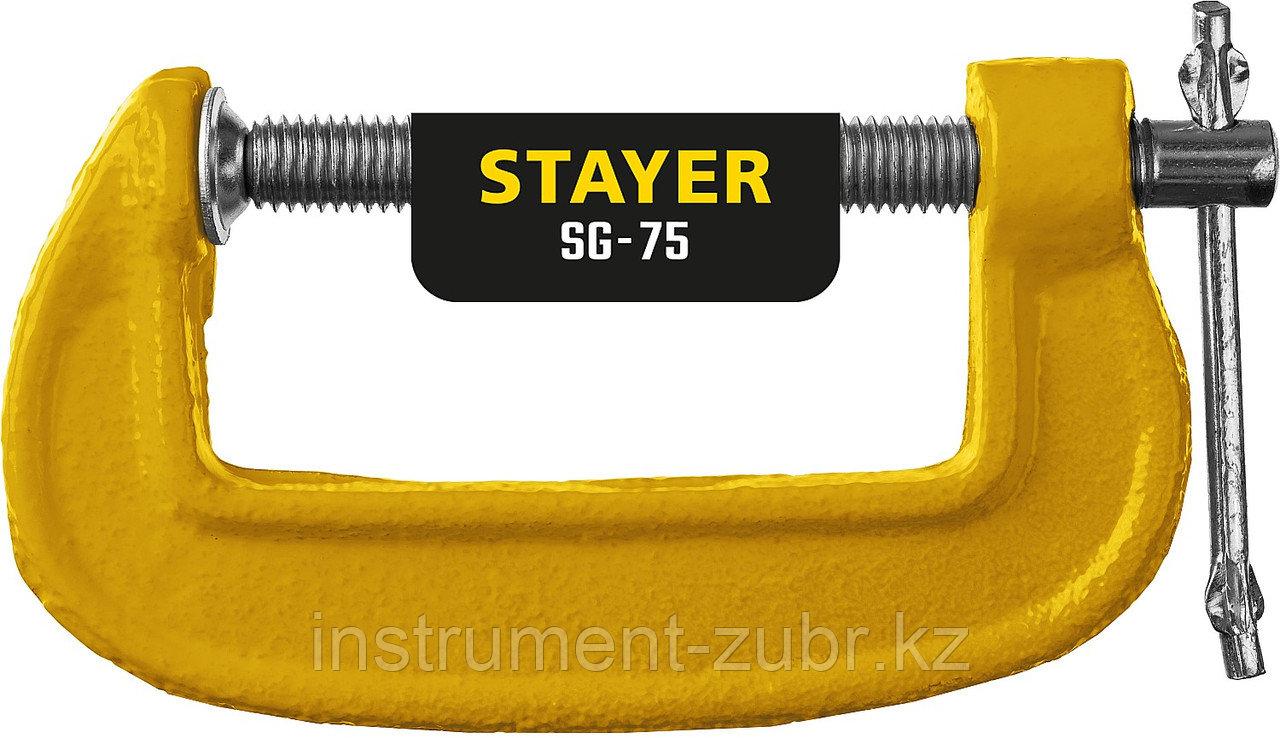 Струбцина тип G 75 мм, STAYER SG-75