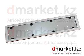 Рамка для номера, металлическая, белая, антивандальная