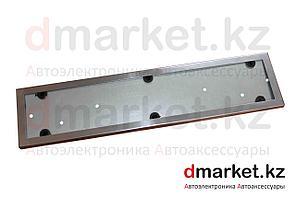 Рамка для номера, металлическая, хром, антивандальная