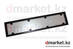 Рамка для номера, металлическая, черная, антивандальная