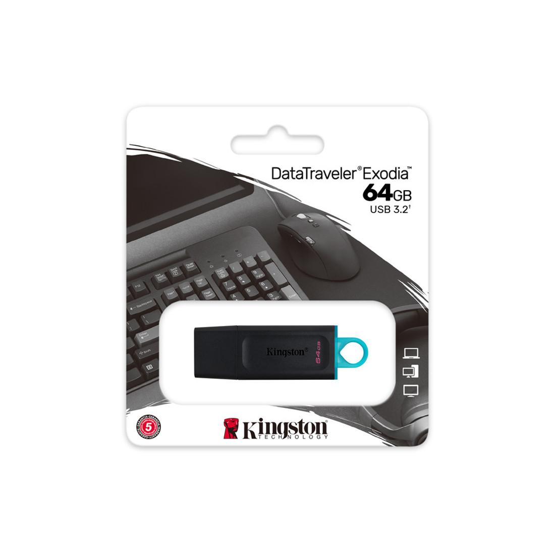 USB-накопитель Kingston DTX/64GB 64GB Чёрный