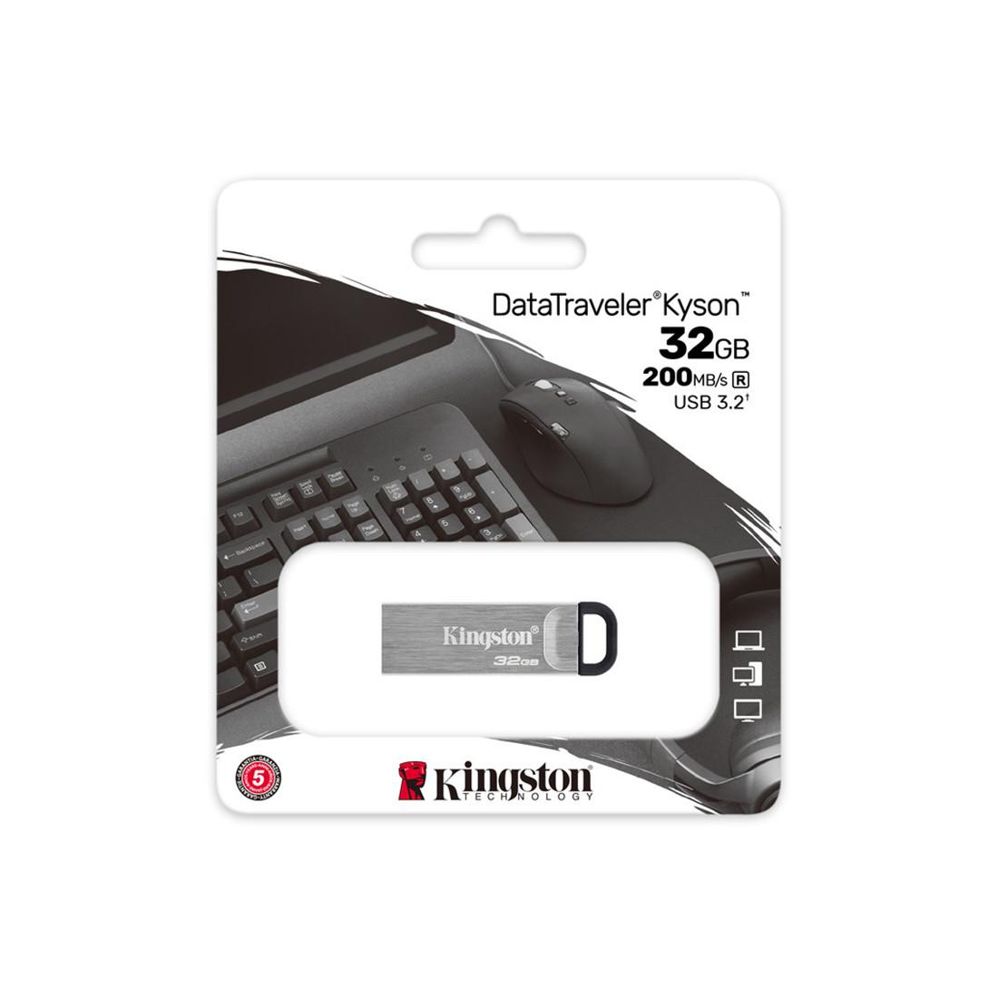 USB-накопитель Kingston DTKN/32GB 32GB Серебристый