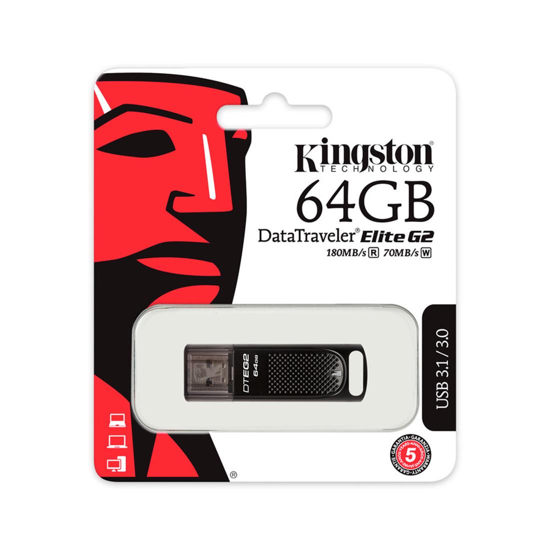 USB-накопитель Kingston DTEG2/64GB 64GB Чёрный