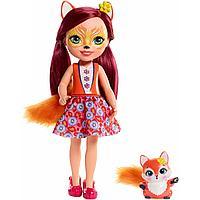 Enchantimals Высокая Кукла Энчантималс с питомцем Фелисити Лис, 37 см (FRH53)