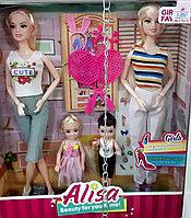 Барби с подружкой и детьми