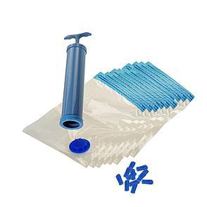 Набор вакуумных мешков с насосом для хранения вещей 10 шт., фото 2