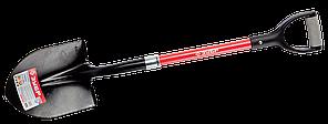 Комплект огородник: штыковая лопата Зубр + черенок диам. 40 мм 1/с + Мотыга + вилы + грабли + грабли веерные