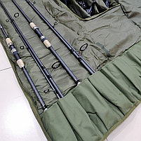 Чехол полужесткий фидерный, на 4 удилища с катушками, фото 4