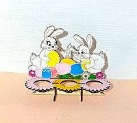 Пасхальная подставка для яиц, зайки