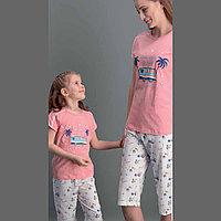 Пижама детская девичья 2/92 см, Розовый