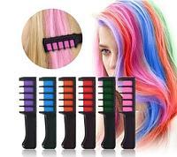Комплект из 6 гребней с мелками для временного окрашивания волос Hair Chalk