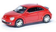 Машина металлическая RMZ City 1:32 Volkswagen New Beetle 2012, инерционная, красный матовый цвет