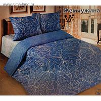 "Постельное бельё евро""Традиция: Жемчужина"", цвет голубой, 200х217 см,220х240, 70х70см - 2 шт"