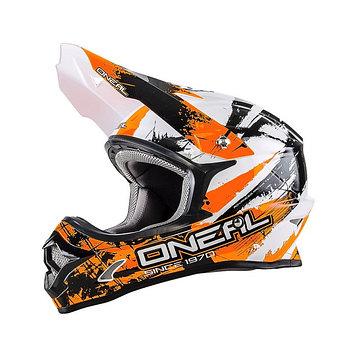 Шлем кроссовый 3Series SHOCKER чёрно-оранжевый, S