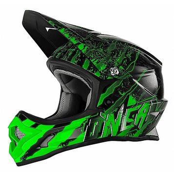 Шлем кроссовый 3Series MERCURY чёрно-зеленый, M
