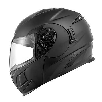 Шлем модуляр ZS-3020 черный матовый, S