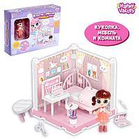 Пластиковый домик для кукол «В гостях у Молли» спальня с куклой и аксессуарами