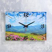 "Часы настенные ""Летний пейзаж"" 40х56 см, плавный ход"