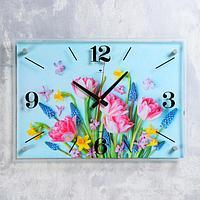 """Часы настенные """"Букет"""" 40х56 см, плавный ход"""
