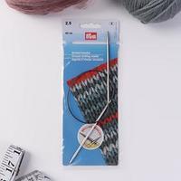 Спицы для вязания, круговые, с пластиковой леской, d 2,5 мм, 40 см