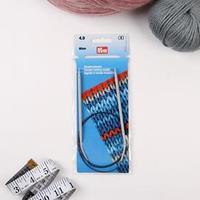 Спицы для вязания, круговые, с пластиковой леской, d 4 мм, 80 см
