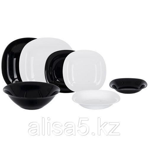 DIWALI BLACK/WHITE столовый сервиз на 6 персон из 19 предметов, шт