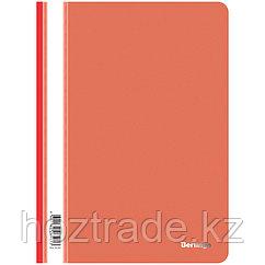 Папка-скоросшиватель пластик. Berlingo, А4, 180мкм, красная с прозр. верхом