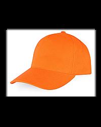 Бейсболка - 100% Х/Б, цвет оранжевый