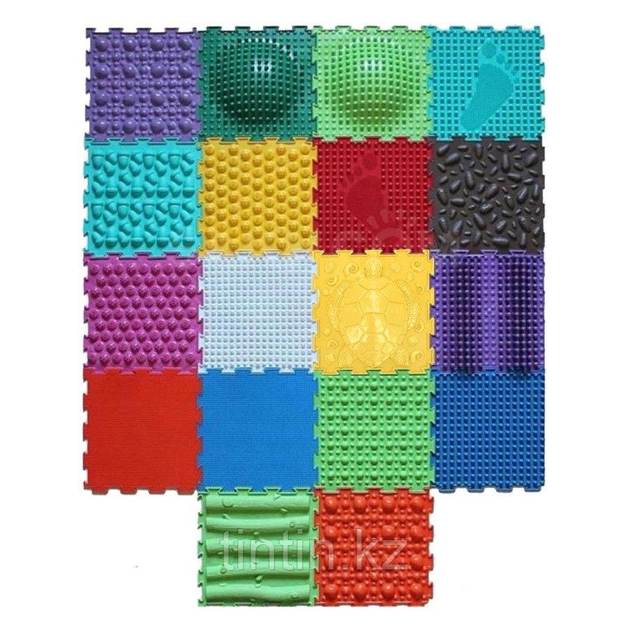 Детский массажный коврик ОРТОДОН, набор MIX 18 (18 пазлов) Ассорти для всей семьи