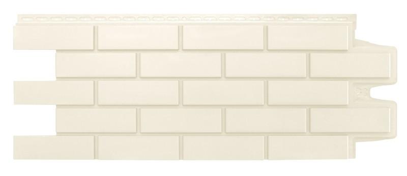 Фасадные панели Молочный 1000x400 мм Клинкерный кирпич,серия Стандарт (моноцвет) Grand Line