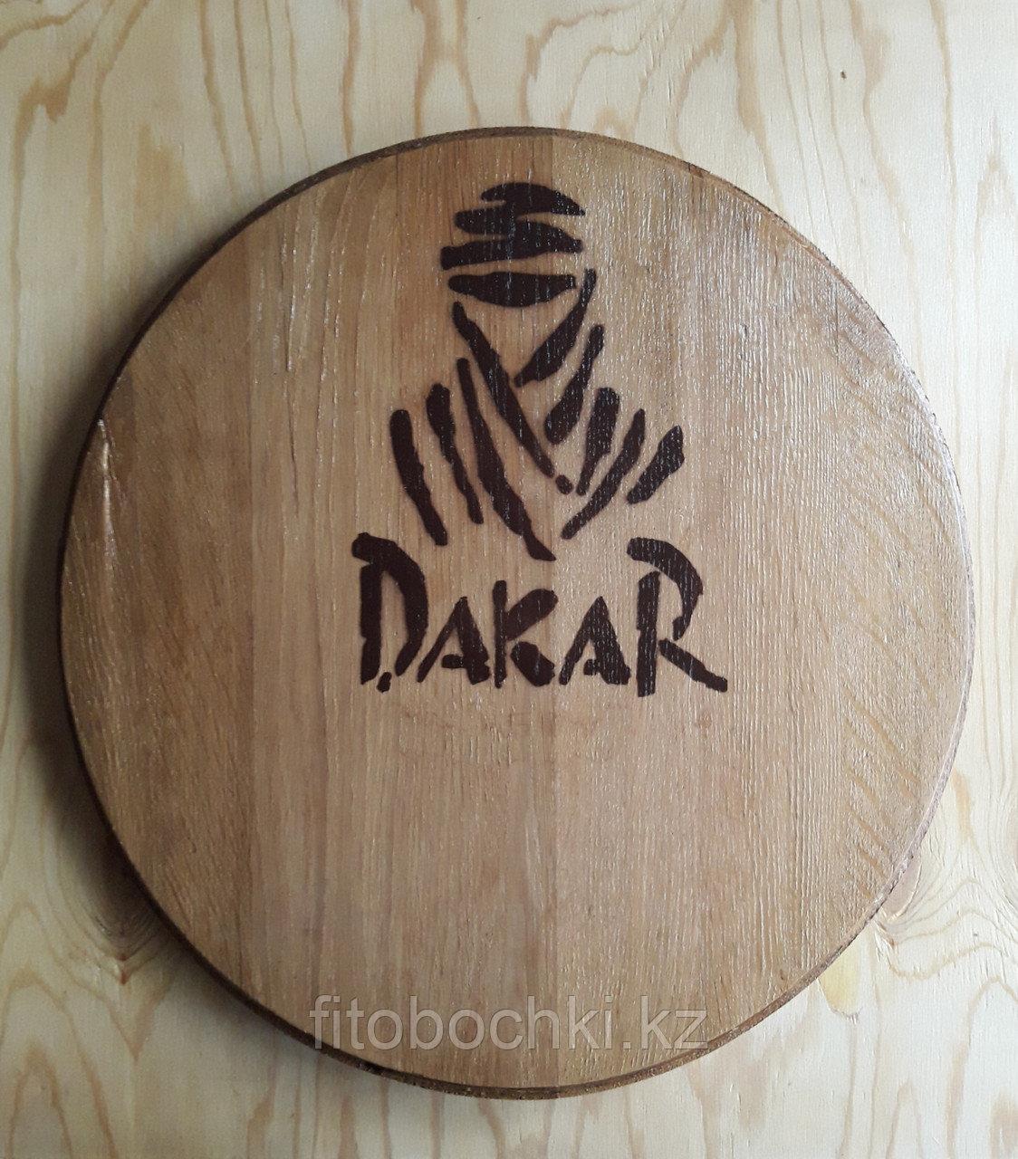 """Деревянное панно """"DAKAR""""  (дно дубовой бочки), D 460 мм"""