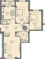 3 комнатная квартира в ЖК Асем Тас 2 112.38 м², фото 1