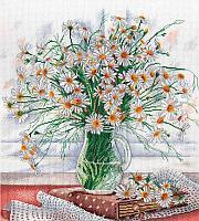 Набор для вышивания крестиком на канве от компании «М.П. Студия» НВ-533 «Нежность полевых цветов».