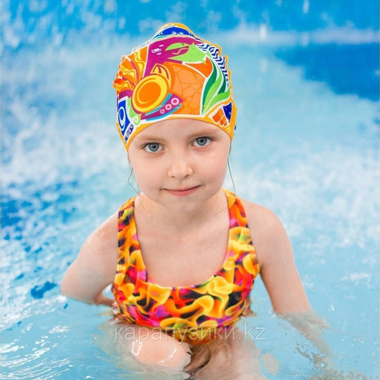 Шапка  для плавания детская  подводный мир