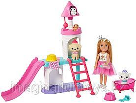 Barbie игровой набор Замок принцессы Челси с питомцами