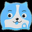 Шапка для плавания детская силикон собачка, фото 4
