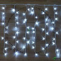 """Гирлянда """"Дождь"""" - 2х6 метра, 600 лампочек, белый цвет свечения, светит постоянно"""