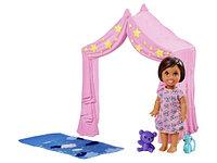 "Mattel Barbie Набор ""Уход за малышами"" палатка FXG97"