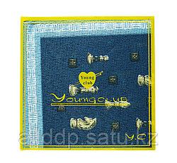Платок носовой в упаковке (синий с кантом), 12 см