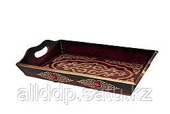 Поднос для подарков и денег на Тойбастар, 30 см, коричневый